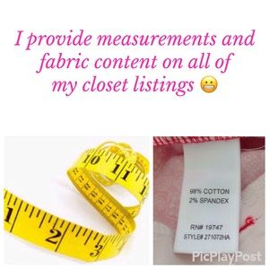 Other - Measurements and fabric content provided! 😬
